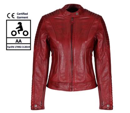 MotoGirl Valerie Red Leather Jacket