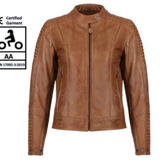 Motogirl Valerie Camel Leather Jacket